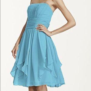Tiffany blue strapless dress